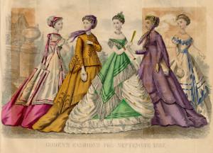 Victorian fashion GODEY'S 1867