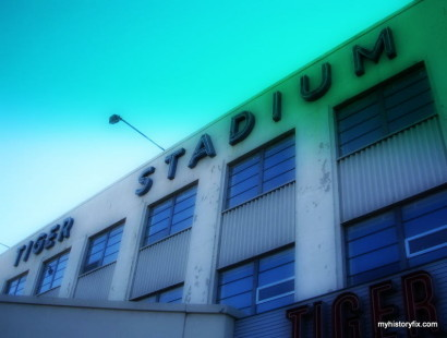 Tiger Stadium facade post-closing