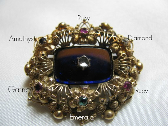 Jewelry - Victorian Acrostic pin