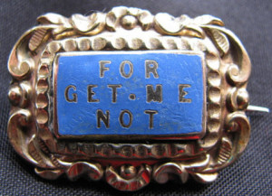Victorian jewelry - motto pin