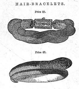 Jewelry - Godey's hairwork illustration