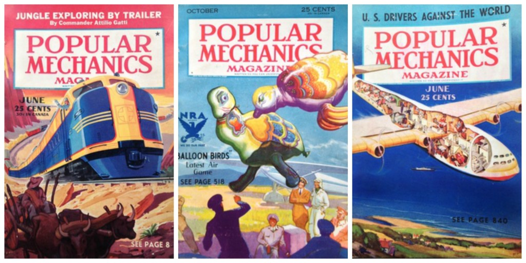 Vintage Popular Mechanics covers