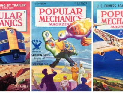 Vintage Popular Mechanics covers
