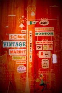 SoWa Vintage Market Sign