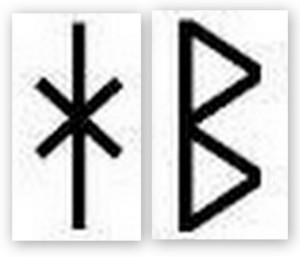 Runic H, B
