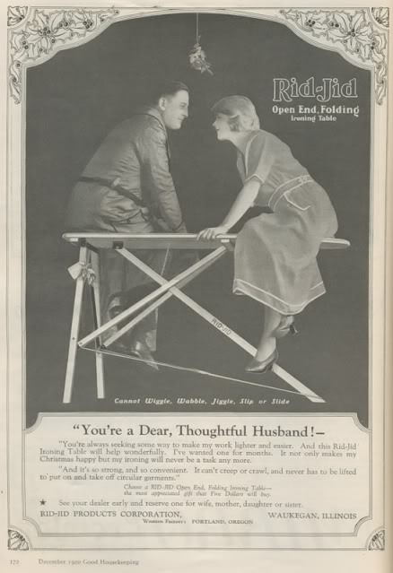 Vintage Ironing Board Ad