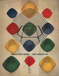 Bertoia Diamond Chair ad