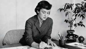 Florence Knoll at work.