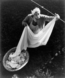 Woman Haning Wash