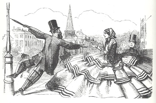 Punch cartoon 1856 Crinolines.