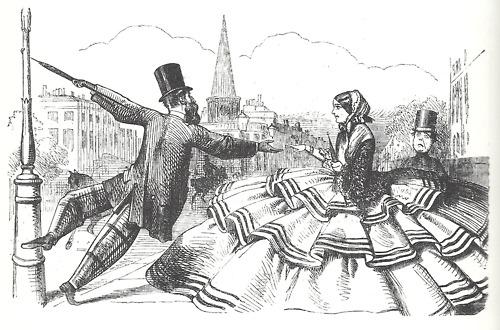 Punch cartoon 1856 Crinolines.