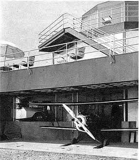 House of Tomorrow airplane hangar
