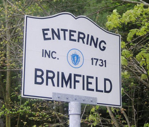 Entering Brimfield sign
