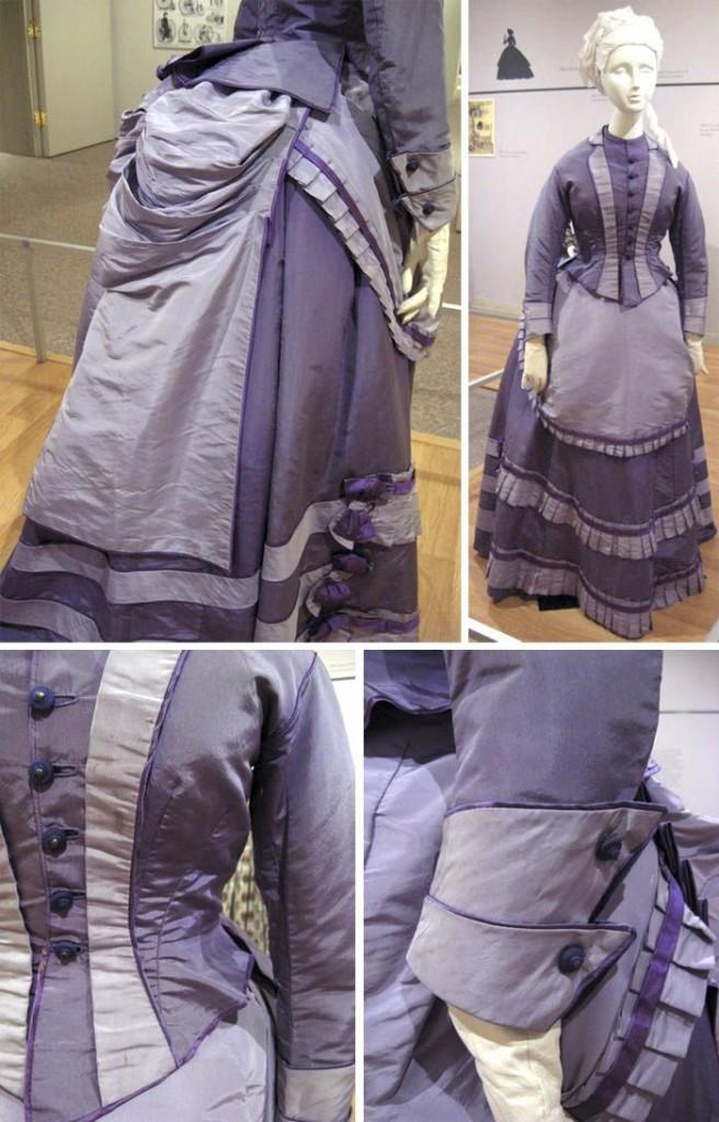 Mauve Victorian Dress collage