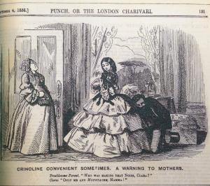 Crinoline cartoon Punch Magazine