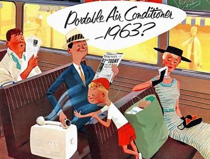 portable AC ad 1963