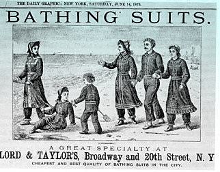Bathing attire c. 1875