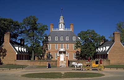 The Governor's Palace, via Colonial Williamsburg.