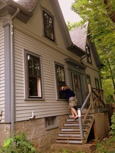 The House That Brought Us to Town. Don't worry, the house isn't occupied! It's got great old details to restore: wide-plank floors, great kitchen sink, built-ins…but it needs a ton of work! I can see HGTV's Nicole Curtis turning this into a gem!