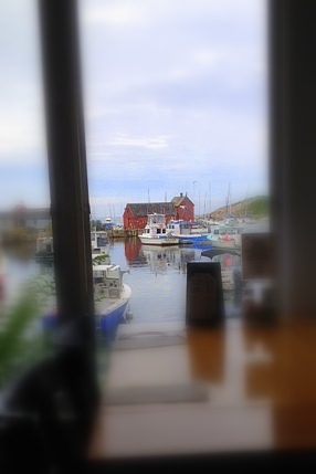 The view from our table at Blue Lobster Grill.