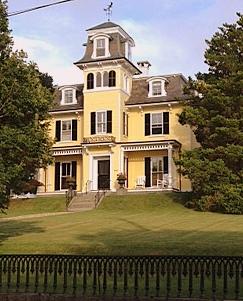 yellow house on angle