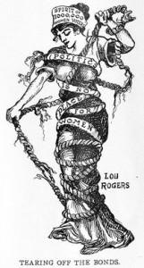 Early Feminist cartoon