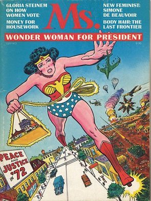 First cover Ms. Magazine featuring Wonder Woman