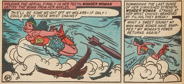 Wonder Woman comic strip, breaking chains