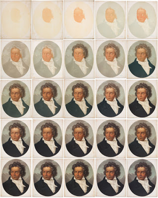 Beethoven portrait in stages