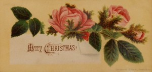 Prang rose christmas card