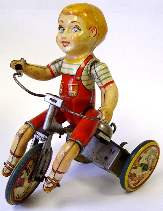 Tin toy, tricycle