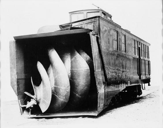 Railway snowblower