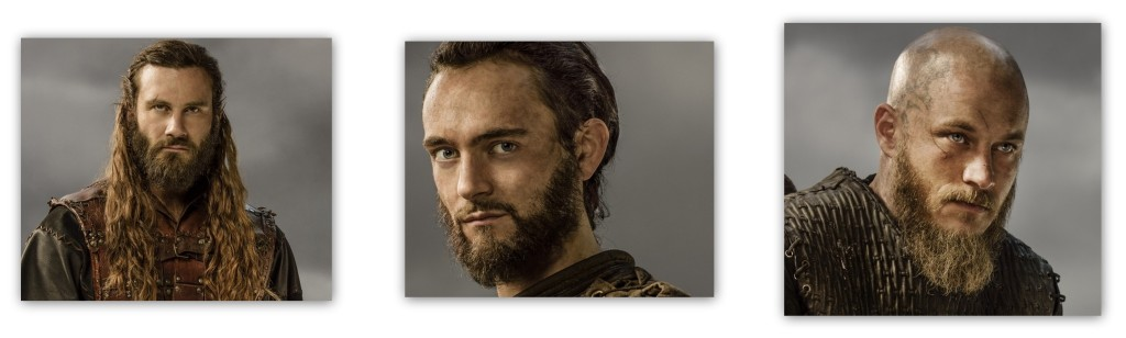 Rollo, Athelstan, Ragnar from Vikings