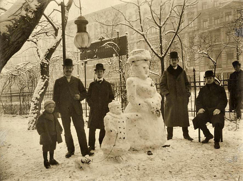 Vintage snow sculpture