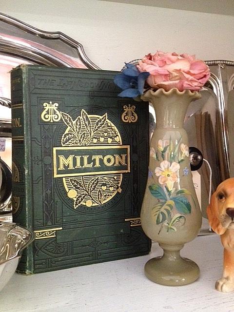 Book, vase