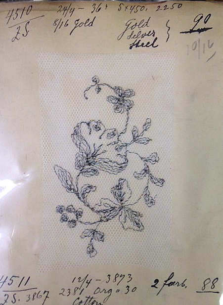 Close-up of lace sample
