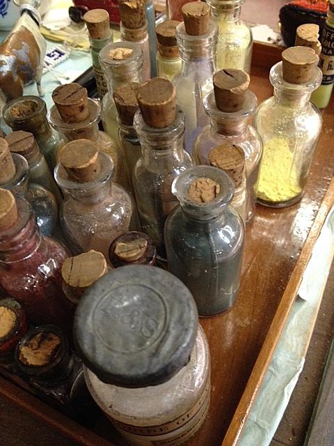 Bottles of dye