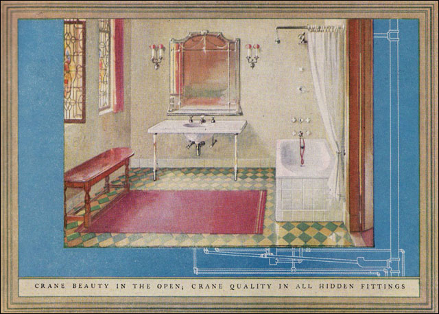 English Revival bathroom