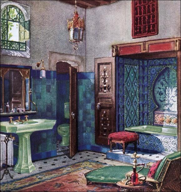 Moroccan style bathroom 1920s
