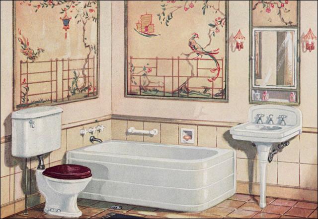 Oriental style bathroom 1920s