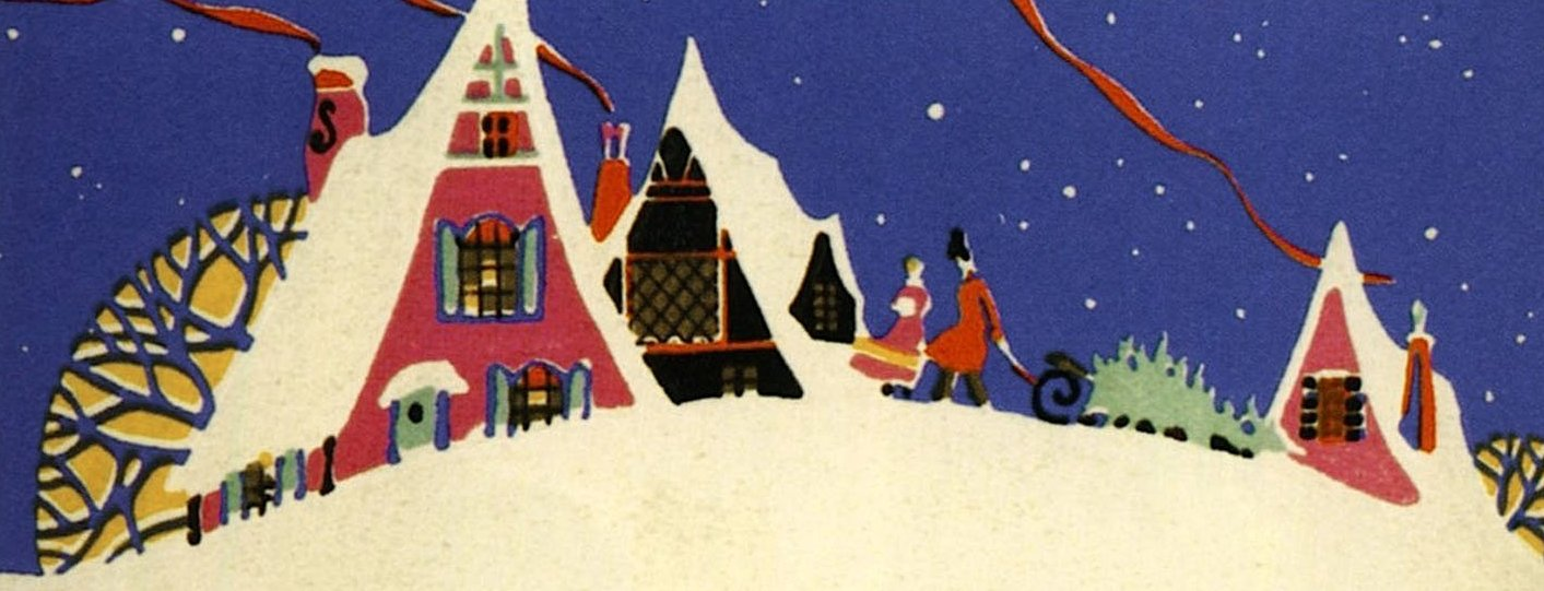 Christmas past my history fix old christmas greetings 1920s card m4hsunfo