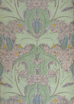 Voysey wallpaper art nouveau