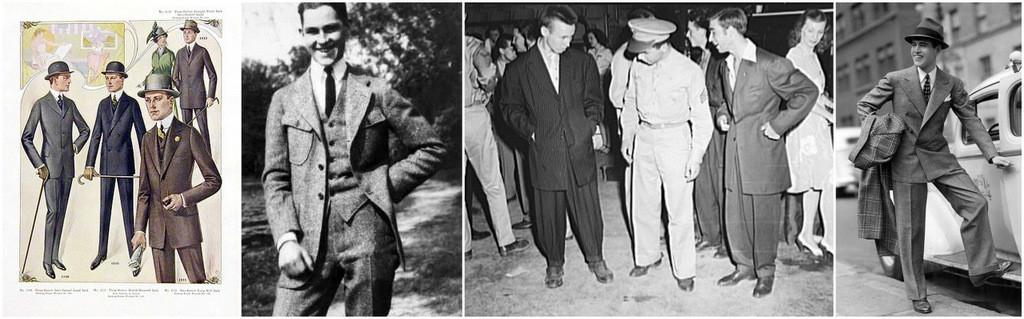 men's suits 1900=1945