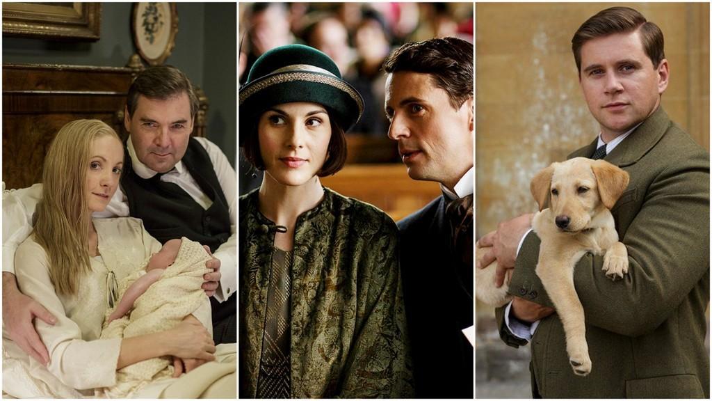 Downton Anna, Bates, Mary, Henry, Tom