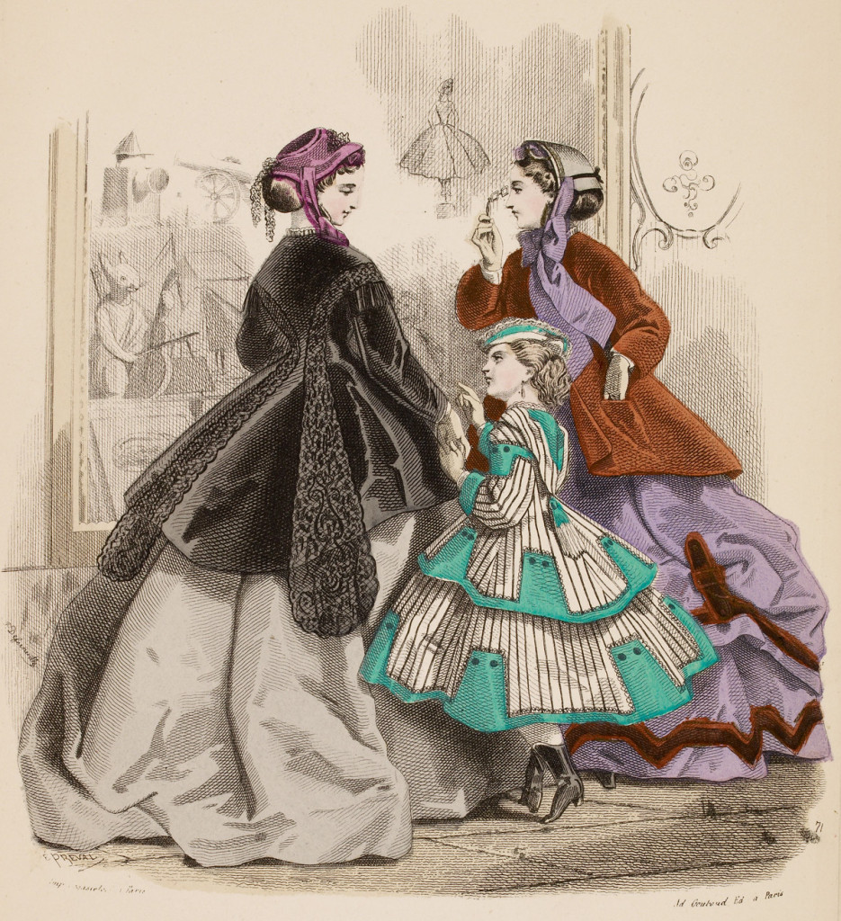 Victorian women and girl 1866
