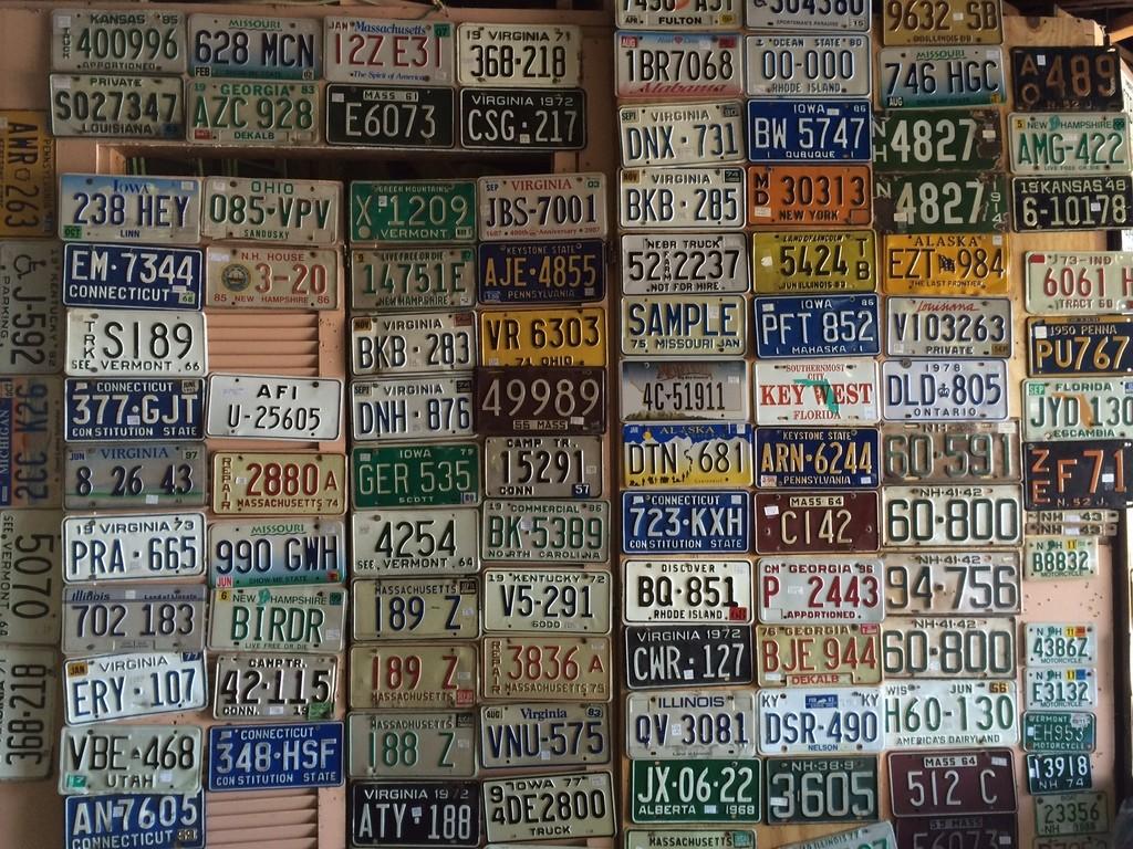 license plates, Newburyport MA