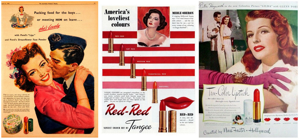 1940s makeup ads