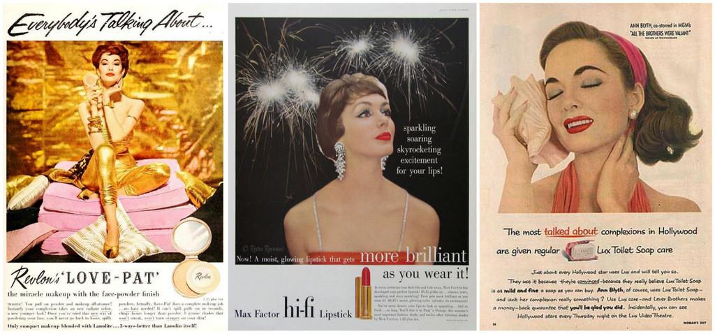 1950s makeup ads