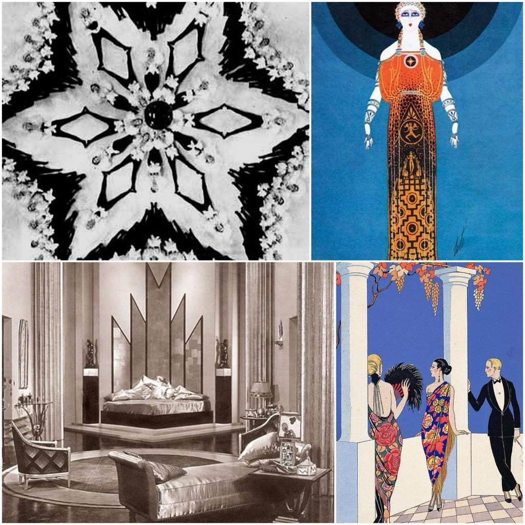 Art Deco set design, choreo, art, clothing