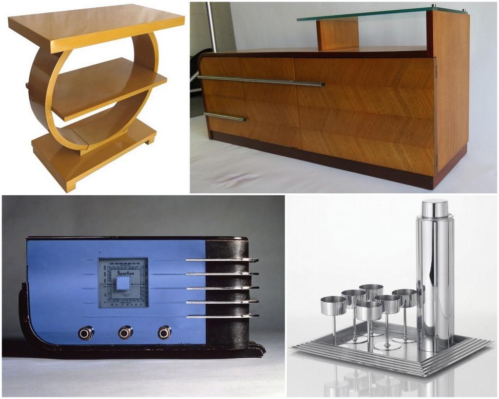 Streamline Moderne furniture, smalls